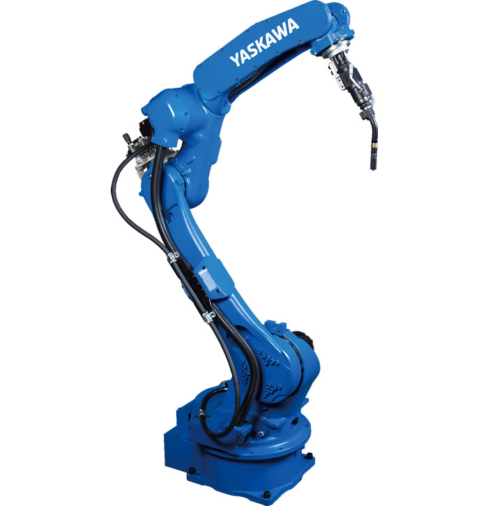 Powerful, Thru-Arm Arc Welding Robot