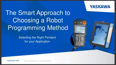 The Smart Approach to Choosing a Robot Programming Method
