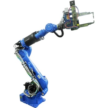 Motoman MS210 spot welding robot with external cabling