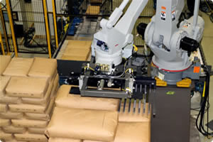 Motoman Robots Handling and Palletizing