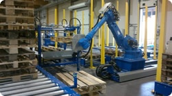 Pallet Sortation and Handling with a Motoman Robot