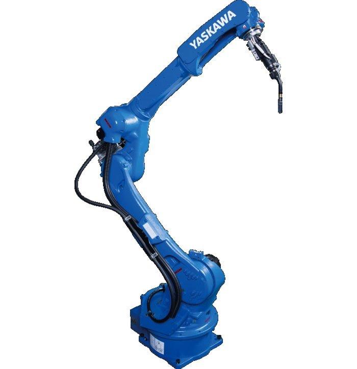 Slim Six-Axis, Extended-Reach Arc Welding Robot